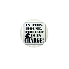 Cat in Charge Mini Button