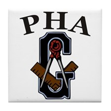 PHA Square and Compass Tile Coaster