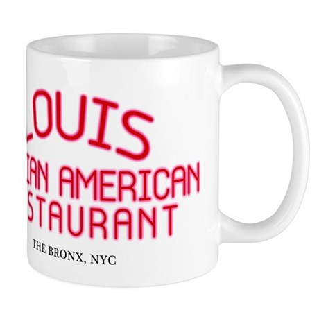 Godfather 'Louis Restaurant' Mug by cult_shirts