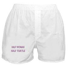 Half Woman Half Turtle Boxer Shorts