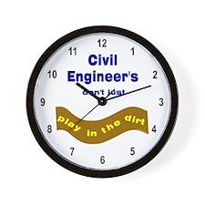 Civil Engineers Play Wall Clock