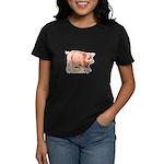 Vintage Oink Piggy Women's Dark T-Shirt