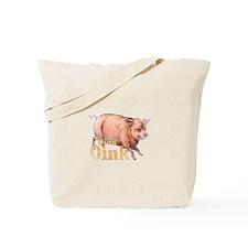 Vintage Oink Piggy Tote Bag