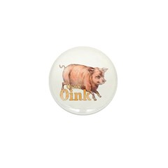 Vintage Oink Piggy Mini Button (10 pack)