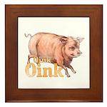 Vintage Oink Piggy Framed Tile