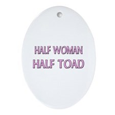 Half Woman Half Toad Oval Ornament