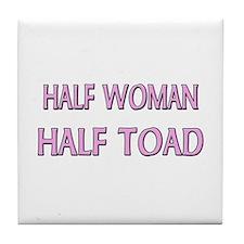 Half Woman Half Toad Tile Coaster
