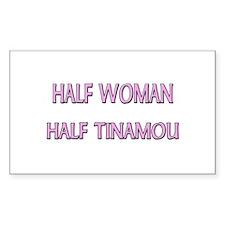 Half Woman Half Tinamou Rectangle Decal