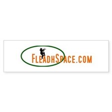 White FleadhSpace.com sticker