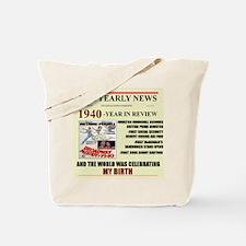 1940-birth Tote Bag