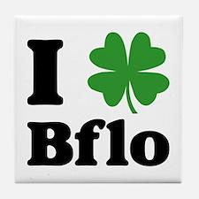 I Sham Bflo Tile Coaster