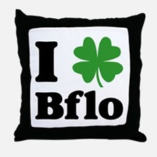 I Sham Bflo Throw Pillow