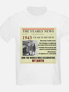 born in 1943 birthday gift T-Shirt