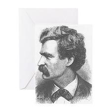 Mark Twain Engraving July74 Greeting Cards
