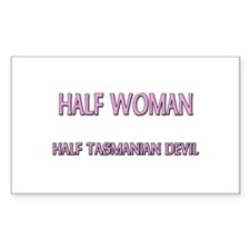 Half Woman Half Tasmanian Devil Decal