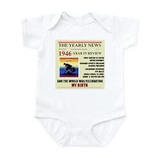 born in 1946 birthday gift Infant Bodysuit