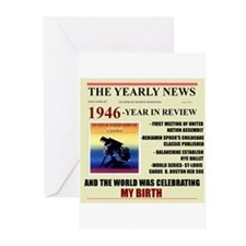 born in 1946 birthday gift Greeting Cards (Pk of 1
