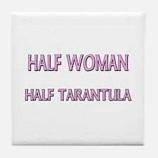 Half Woman Half Tarantula Tile Coaster