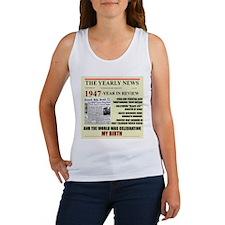 born in 1947 birthday gift Women's Tank Top