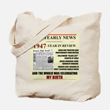 born in 1947 birthday gift Tote Bag