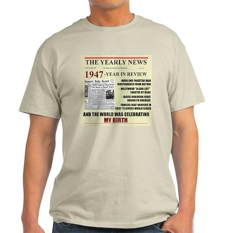 born in 1947 birthday gift Light T-Shirt