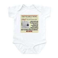 born in 1947 birthday gift Infant Bodysuit
