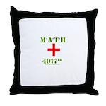 MATH 4077 Throw Pillow
