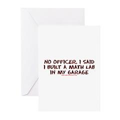 No Officer I Built A Math Lab Greeting Cards (Pk o