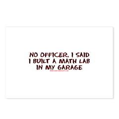 No Officer I Built A Math Lab Postcards (Package o