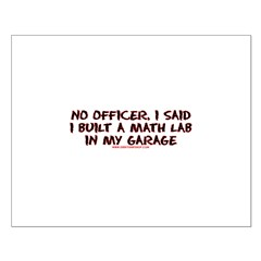No Officer I Built A Math Lab Small Poster