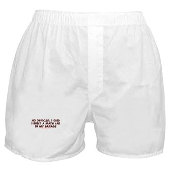 No Officer I Built A Math Lab Boxer Shorts | Gifts For A Geek | Geek T-Shirts