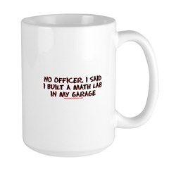 No Officer I Built A Math Lab Large Mug