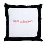 My Boss's A Geek Throw Pillow