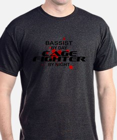 Bassist Cage Fighter by Night T-Shirt