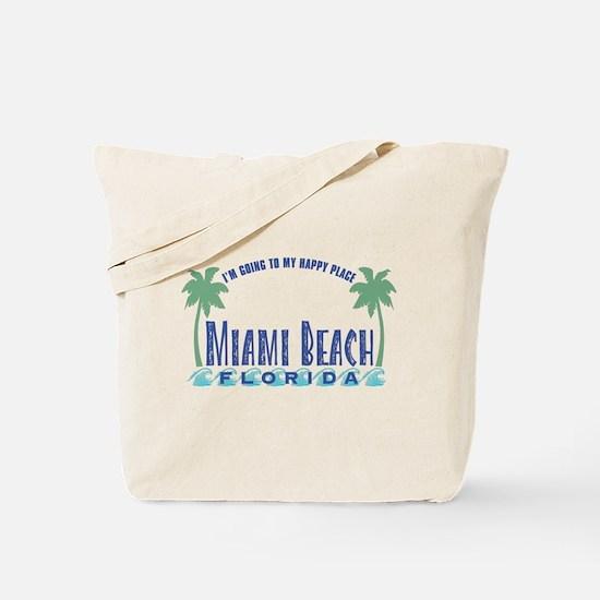 Miami Beach Happy Place - Tote or Beach Bag