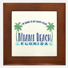 Miami Beach Happy Place - Framed Tile