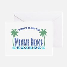 Miami Beach Happy Place - Greeting Card