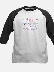 Victoria - Grandpa's Princess Kids Baseball Jersey