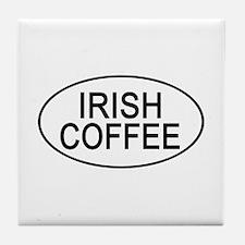 Irish Coffee Euro Oval white Tile Coaster