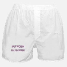 Half Woman Half Sawfish Boxer Shorts