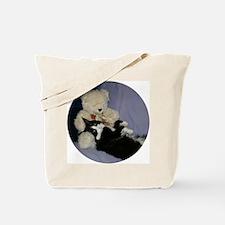 B&W Maine Coon Cat Teddy Boy Tote Bag