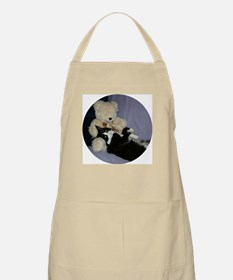 B&W Maine Coon Cat Teddy Boy BBQ Apron