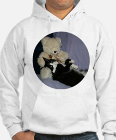B&W Maine Coon Cat Teddy Boy Hoodie