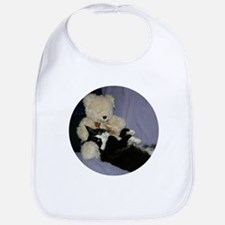 B&W Maine Coon Cat Teddy Boy Bib