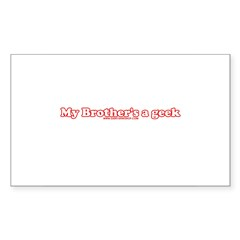 My Brother's A Geek Rectangle Sticker 10 pk)