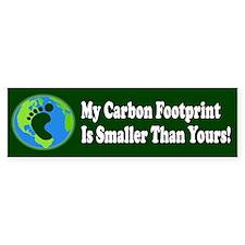Carbon Footprint Bumper Bumper Sticker