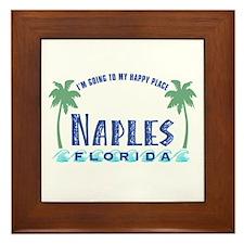 Naples Happy Place - Framed Tile
