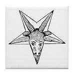 Vintage Occult Goat Tile Coaster