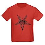 Vintage Occult Goat Kids Dark T-Shirt