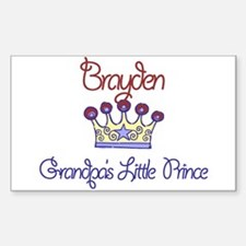 Brayden - Grandpa's Prince Rectangle Decal